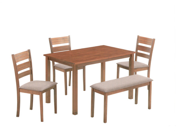 OZEL 1Table 3Chair 1Bench Dining Set