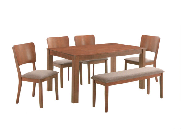 ORTALEZA 1Table 4Chair 1Bench Dining Set