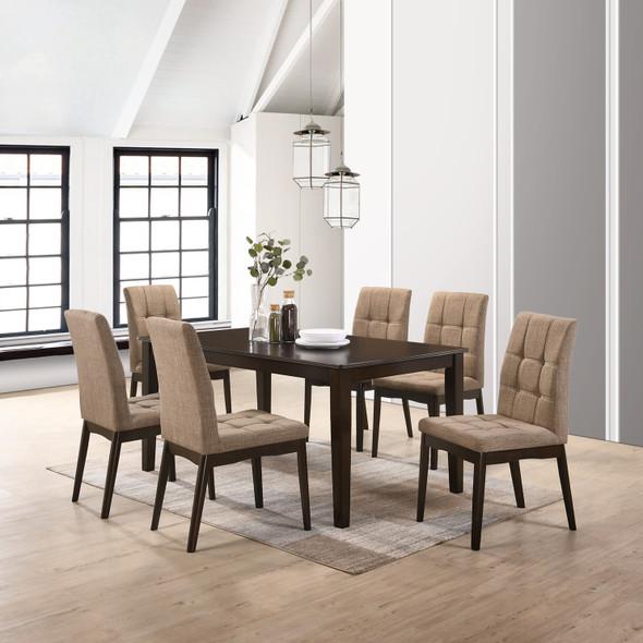 OSWIN III 1Table 6 Chair Dining Set