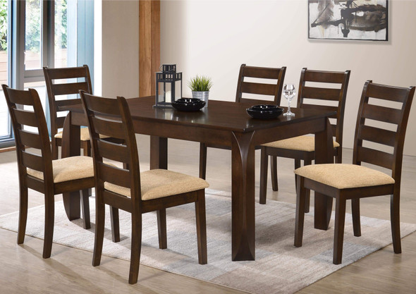 PAULINE 1 Table 6Chair Dining Set