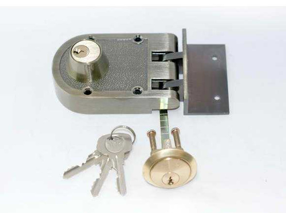 YALE DEADLOCK SINGLE CYLINDER ANTIQUE BRASS