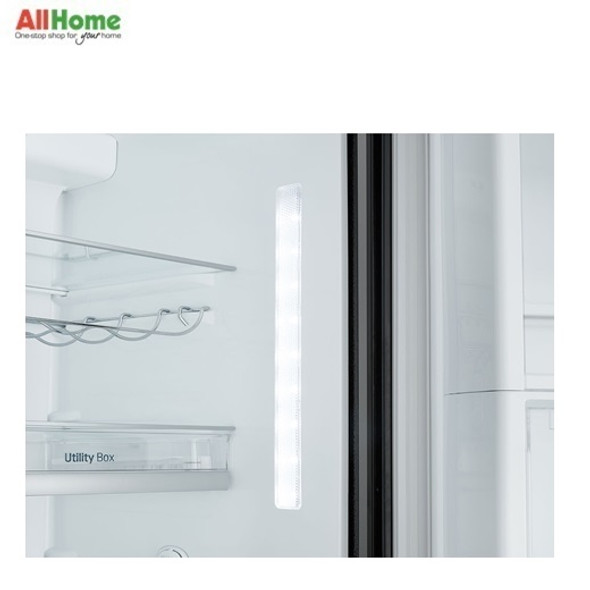 LG Side by Side Refrigerator 24cuft GR M247UGBW