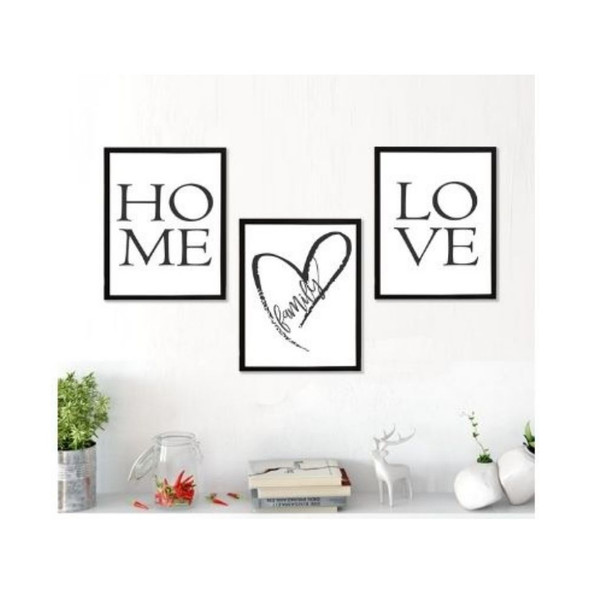 Wall Art Canvass Home Set of 3-A-112020-SPGY333-1215-BLK-01 to 03