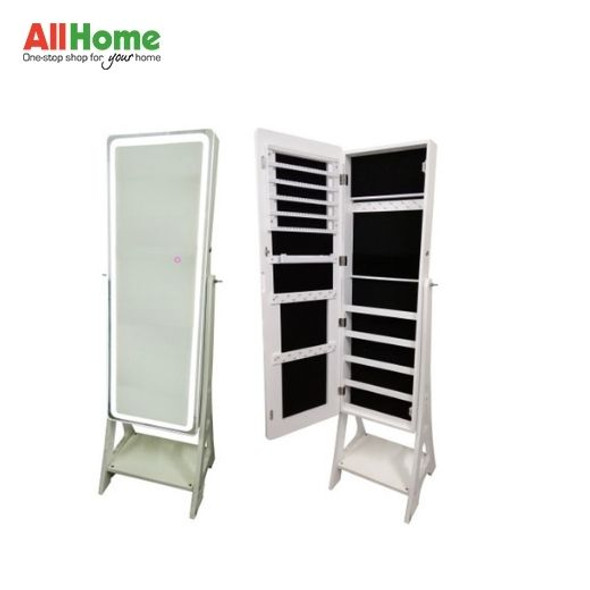 Mirror Stand Full Length Mirror Cabinet Organizer with 3-Tone LED Light and side lock WD-W6677