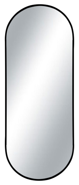 WALL MIRROR OVAL ALUM-MR 50X110CM BLACK
