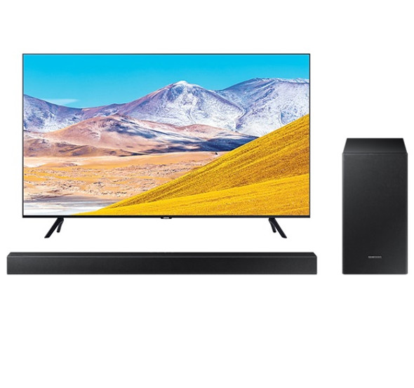 SAMSUNG UA65TU8000 654K UHD Smart TV with FREE Samsung HWT420 Soundbar