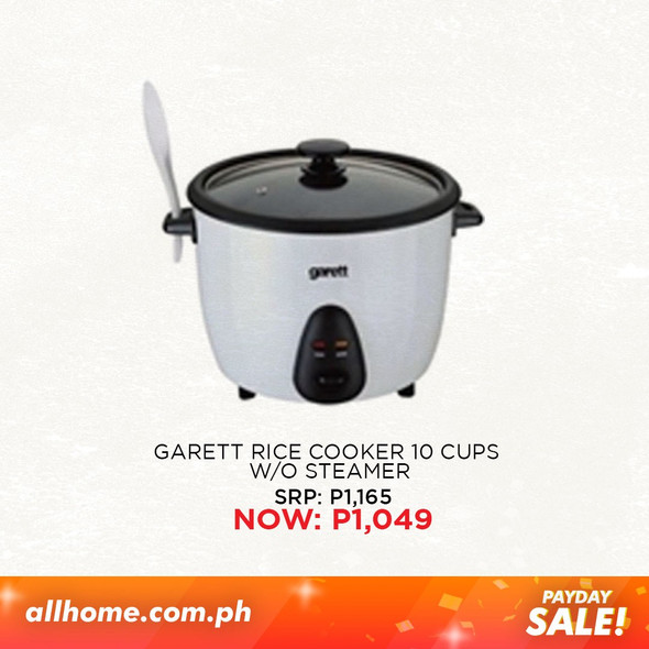 Garett Rice Cooker 10cups without Steamer