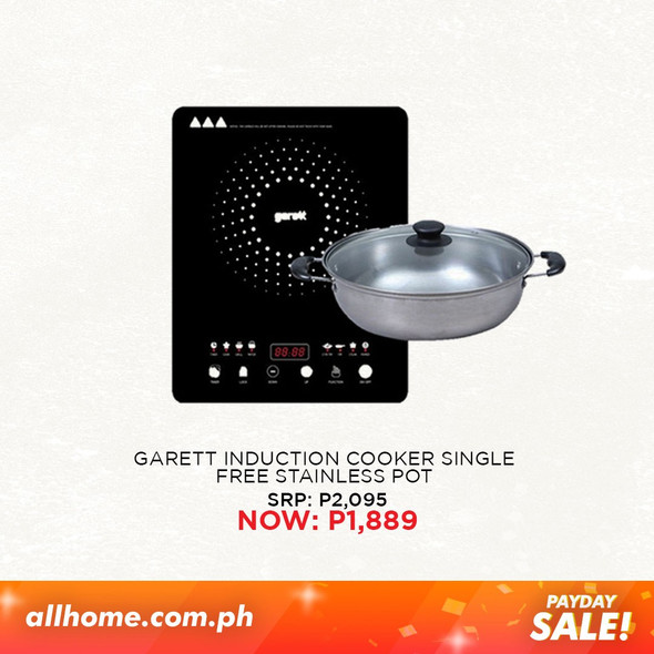 Garett Single Induction Cooker with Stainless Pot