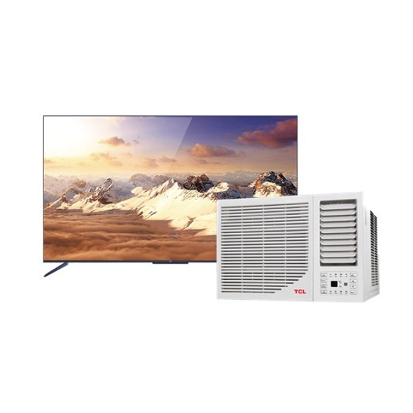 TCL 50C716 50 inches 4k QLED Android Led TV with FREE TCL TAC 09CWR/F 1hp Window Type Aircon