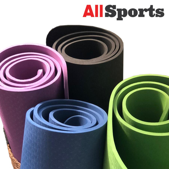 ALLSPORTS-WOMANLY YM-TPE8 YOGA MAT TPE 8MM ASSORTED COLORS