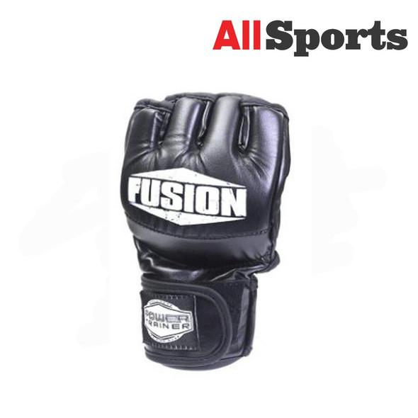 ALLSPORTS-FUSION MMA GLOVES BLACK LARGE/EXTRA LARGE