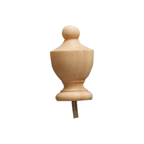 Wood Ball col pole end 1 1/4