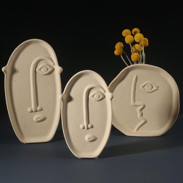 Ceramic Modern Artical Face Vase