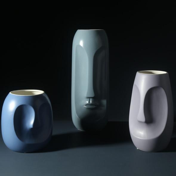 Ceramic Face Modern Minimalist Flower Vase