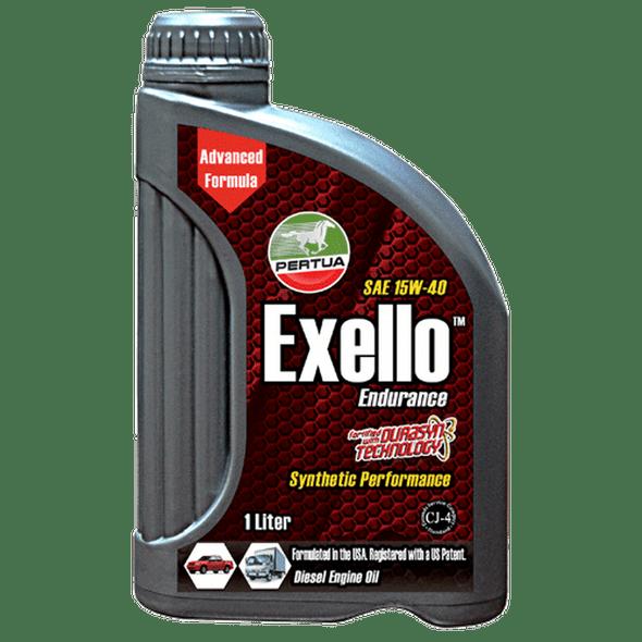 PERTUA EXELLO DIESEL ENGINE OIL SYNTHETHIC BLEND CJ-4 SAE-15W-40 1LITER