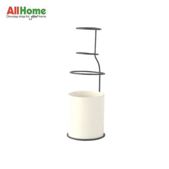 Ceramic Metal Vase Modern Design