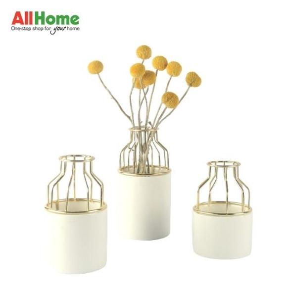 Ceramic Gold Metal Vase BR109