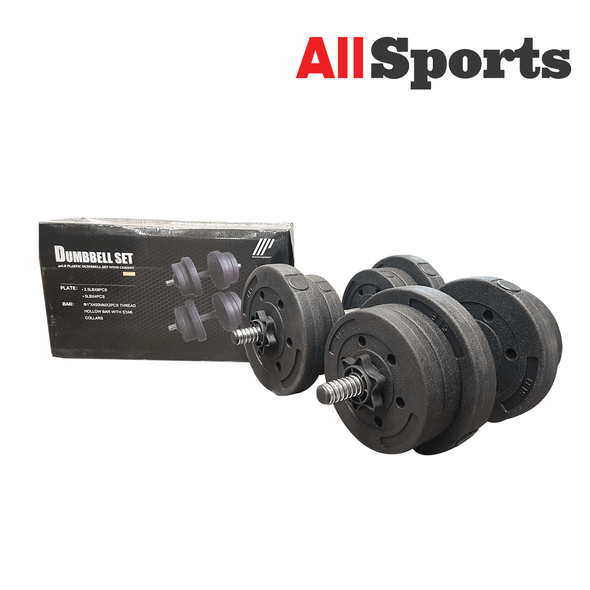ALLSPORTS-MUSCLE POWER DUMBELL SET 40LBS