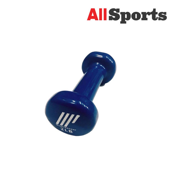 ALLSPORTS-MUSCLE POWER DUMBELL VINYL 2LBS