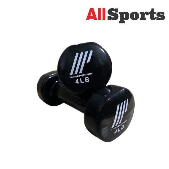 ALLSPORTS-MUSCLE POWER DUMBELL VINYL 4LBS