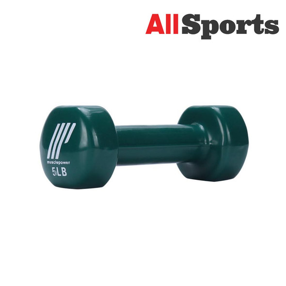 ALLSPORTS-MUSCLE POWER DUMBELL VINYL 5LBS
