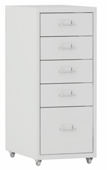 Selby 5 Drawer Storage Cabinet Steel White