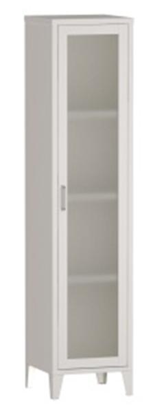 Shanta 1 Door Office Steel Cabinet With Glass