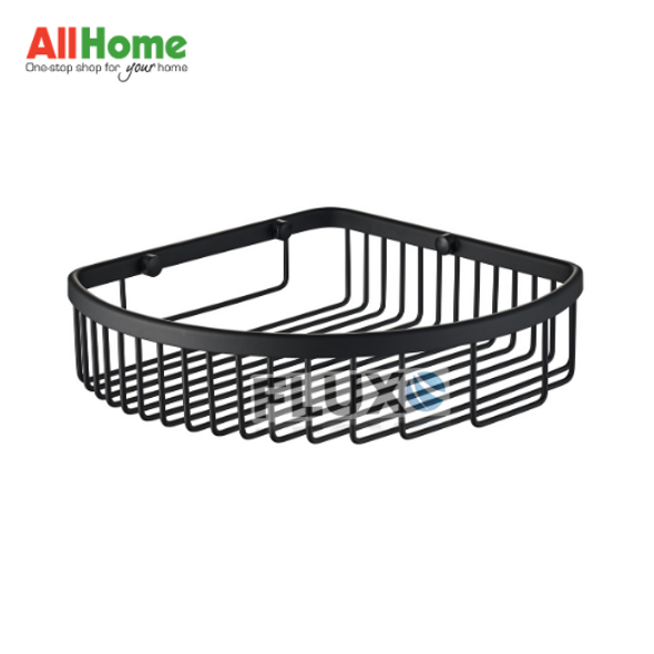 AHBA17 Bathroom Corner Basket Black Matte SS304