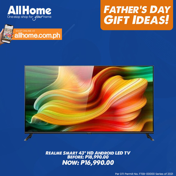 """Realme Smart TV 43"""" HD Android LED TV"""