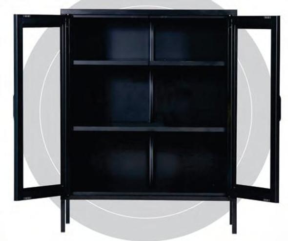 Neo I  2 Door  Steel Glass Cabinet WLS-H1