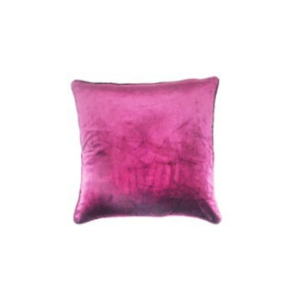 "Style & Collection 18""x18"" Eggplant Velvet Throw Pillow Case"