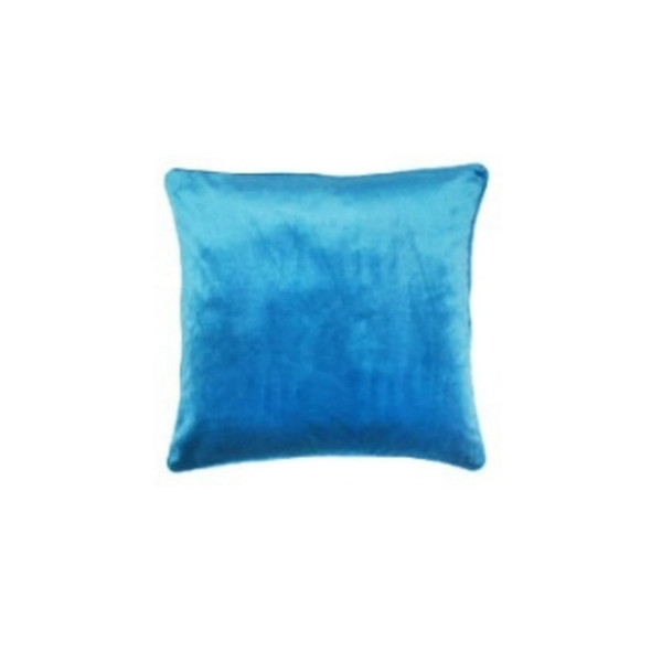 """Style & Collection 18""""x18"""" Pigeon Blue Velvet Throw Pillow Case"""
