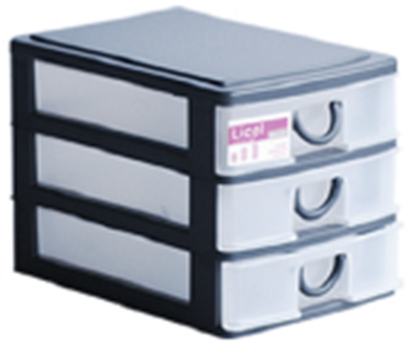 MEGABOX SMALL DRAWER 3LAYER CHARCOAL OR GRAY