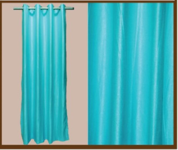 """Style And Collection 55""""x84"""" Light Blue Semi Black Out Curtain"""