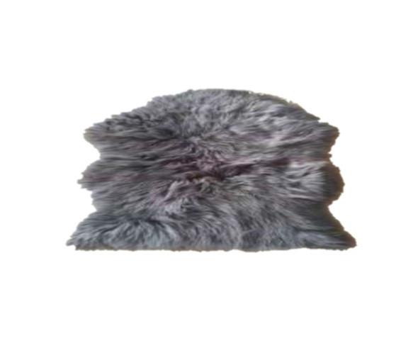 "60""x90"" Dark Grey Faux Fur Couture Rug"