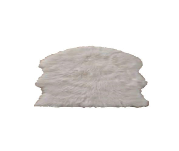 "60""x90"" White Faux Fur Couture Rug"