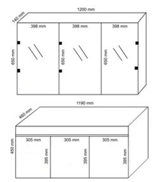 TEUER BURK CA-6671 RETRO MAIN CABINET