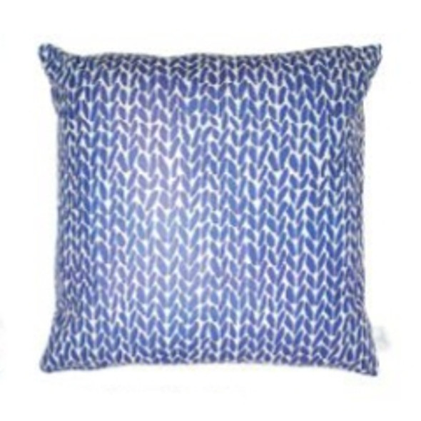 """Style & Collection  17""""x17"""" Blue Arrows Suede Throw Pillow Case"""
