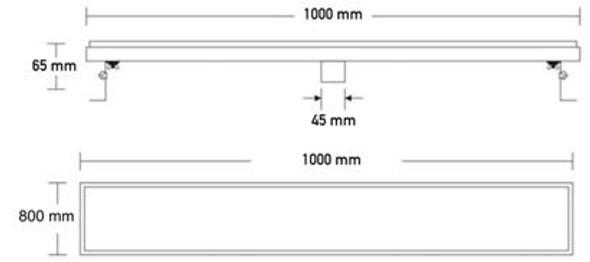 Teuer Gerhart FD-1001 Stainless Steel Tile Floor Drain