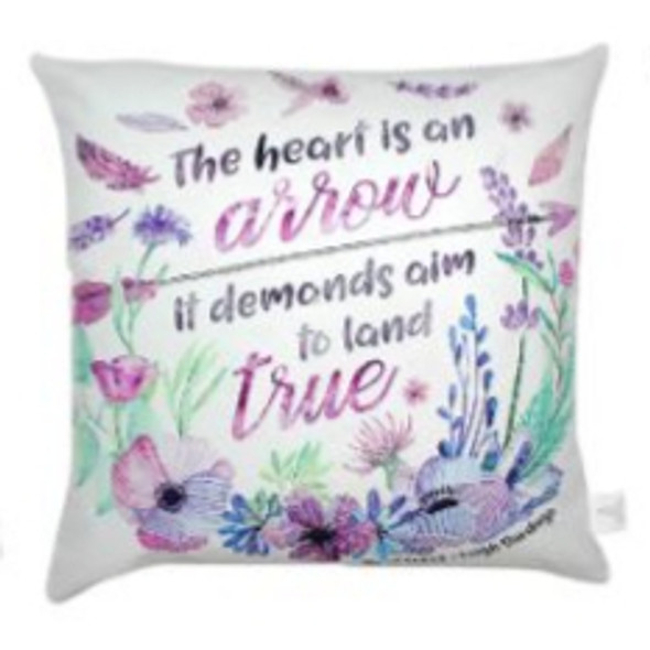 "Style & Collection  17""x17""  Heart is an Arrow Suede Throw Pillow Case"