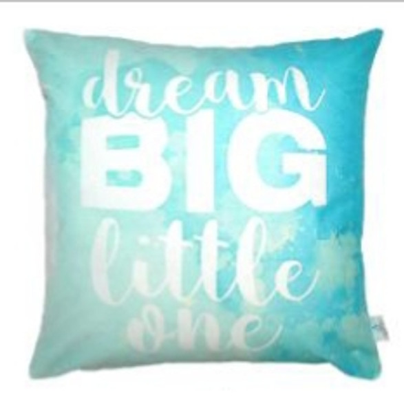 """Style & Collection  17""""x17"""" Dream Big  Suede Throw Pillow Case"""