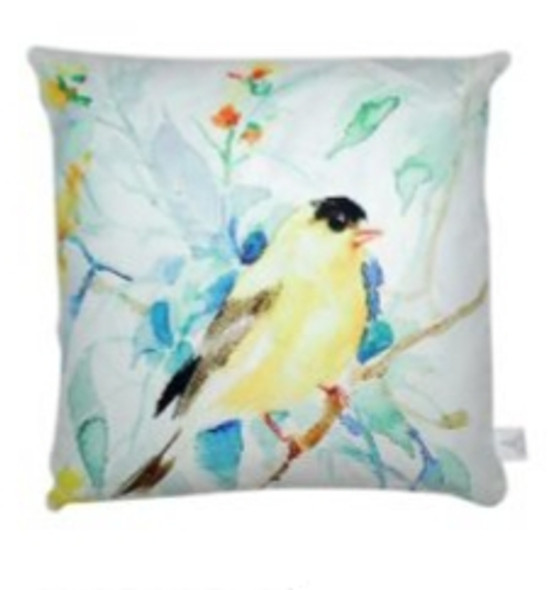 """Style & Collection  17""""x17""""  Bird on Branch Suede Throw Pillow Case"""