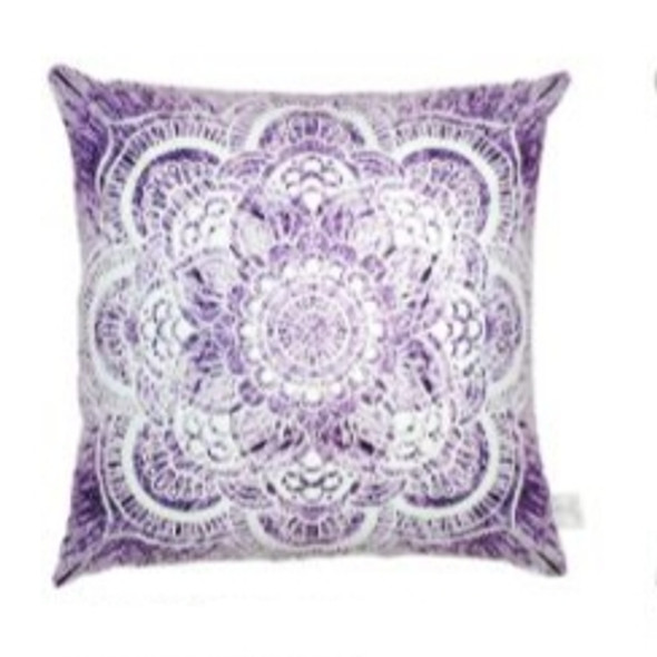 """Style & Collection  17""""x17"""" Mandala  Suede Throw Pillow Case"""
