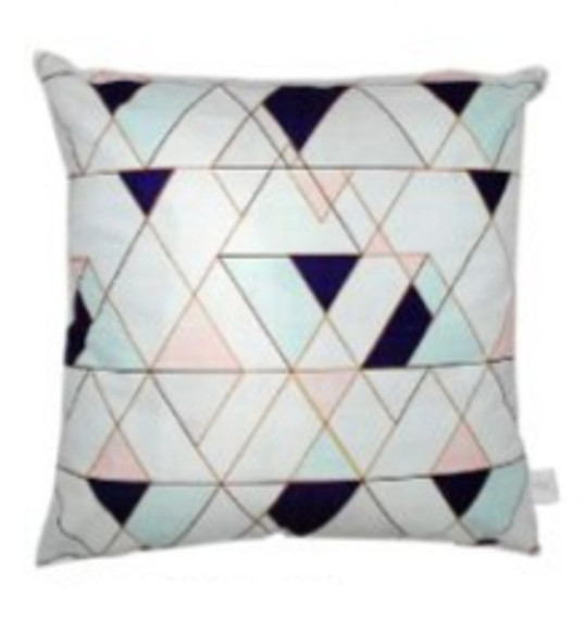 """Style & Collection  17""""x17"""" Geo Suede Throw Pillow Case"""