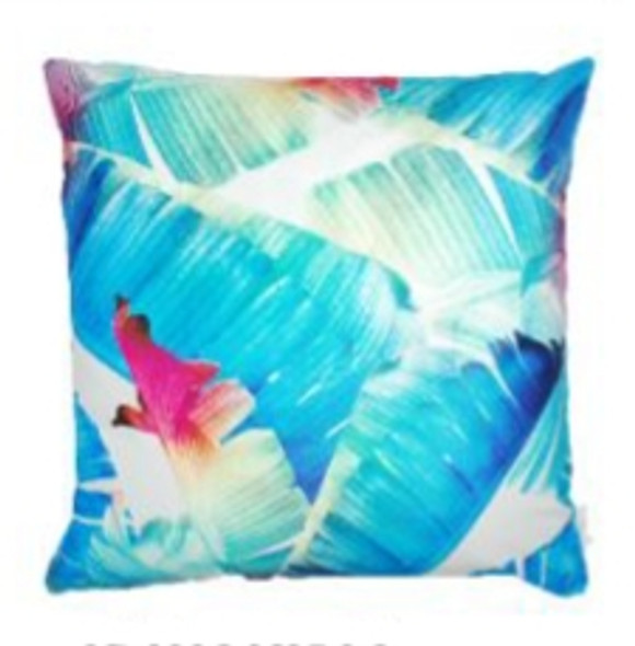 """Style & Collection  17""""x17"""" Banana Leaves Suede Throw Pillow Case"""