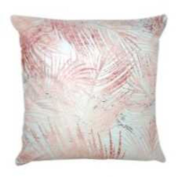 "Style & Collection  17""x17"" Palm Leaves Suede Throw Pillow Case"