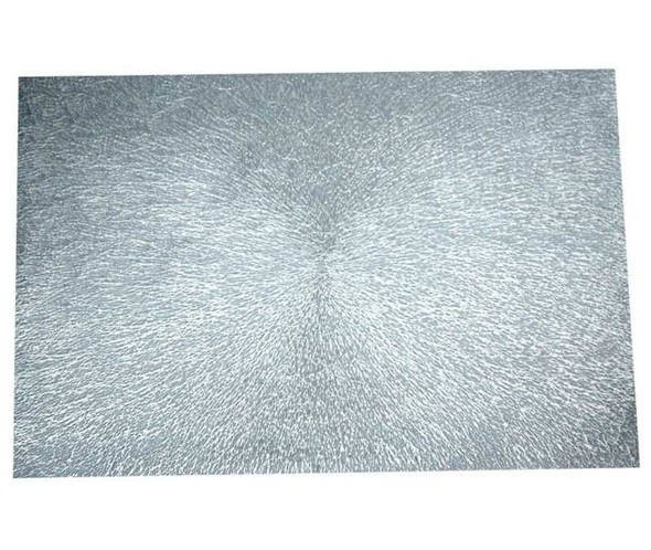 Silver Leatherette  Placemat