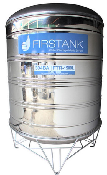 FIRSTANK WATER TANK VERTICAL 1500L STAINLESS STEEL