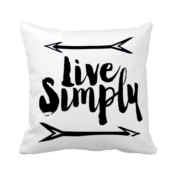 "18""x18"" Live Simply Canvass Throw Pillow Case"