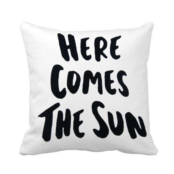"18""x18"" Here Comes the Sun Canvass Throw Pillow Case"